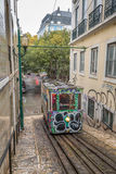 Lisbon Tram. Exposure of a Typical Tram in the Streets of Lisbon, Portugal Royalty Free Stock Photos