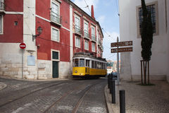 Lisbon Tram Route 12 in Portugal Royalty Free Stock Photos