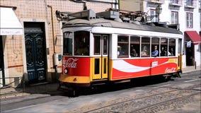 Lisbon Tram stock footage