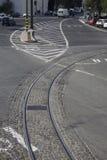 Lisbon tramwaju poręcz Fotografia Royalty Free