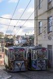 Lisbon tramwaju samochód Portugalia Fotografia Stock