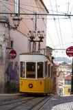 Lisbon tramwaju samochód Portugalia Fotografia Royalty Free