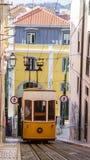 Lisbon tramwaju samochód Portugalia Obraz Royalty Free