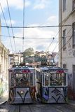 Lisbon tramwaju samochód Portugalia Obraz Stock