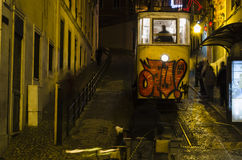 Lisbon tramway. Typical yellow tramway in Lisbon, Portugal Royalty Free Stock Photography