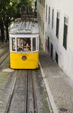Lisbon tramway. Typical yellow tramway in Lisbon, Portugal Royalty Free Stock Image