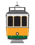 Lisbon tramway. Vector illustration of the Lisbon tramway Royalty Free Stock Photo