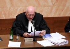Lisbon treaty on Czech Constitutional Court Royalty Free Stock Photo