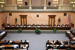 Lisbon treaty on Czech Constitutional Court Royalty Free Stock Photo