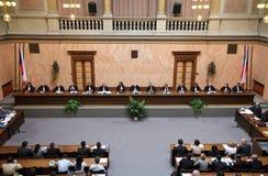Lisbon treaty on Czech Constitutional Court Stock Photos