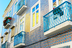 Lisbon typical architectura, Portugal Royalty Free Stock Images