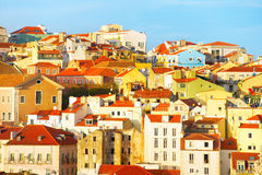 Lisbon typical architecture Royalty Free Stock Photo