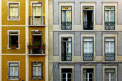Lisbon Typical Buildings Royalty Free Stock Photos