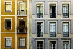 Lisbon typiska byggnader Royaltyfria Foton