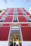 Lisbon typiska byggnader Arkivbild