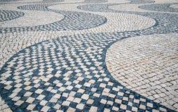 Lisbon typowa mozaika, szczegół mozaika Zdjęcie Stock
