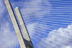 Lisbon. Vasco da Gama Bridge Stock Photo