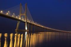 Lisbon - Vasco da Gama bridge Stock Photography