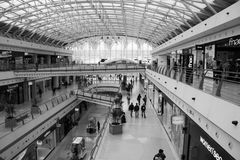 Lisbon -  Vasco da Gama shopping center - B&W Stock Image