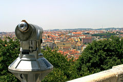 Lisbon view with a binocular Stock Images