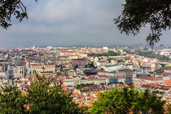Lisbon View. A view of buildings and part of the city of Lisbon, Portugal, built on a steep hillside. Photo taken on: September 23th, 2014 stock photos