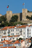 Lisbon view with castle Royalty Free Stock Photos