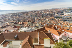 Lisbon- view from the castle Stock Photography