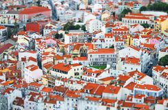 Lisbon. View of old city of Lisbon royalty free stock image