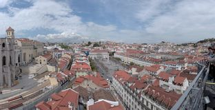 Lisbon view, the Rossio square Royalty Free Stock Image