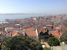 Lisbon. View of Lisbon from Saint George Castle, Portugal Stock Images