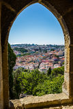 Lisbon view from Saint Jorge castle, Lisbon. Royalty Free Stock Image