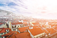 Lisbon, view to the Alfama Stock Image