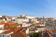 Lisbon, view to Alfama. Royalty Free Stock Images