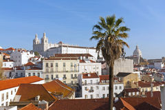 Lisbon, view to Alfama. Royalty Free Stock Image