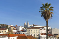 Lisbon, view to Alfama. Stock Images