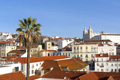 Lisbon, view to Alfama. Stock Image