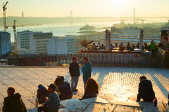 Lisbon viewpoint, Portugal Royalty Free Stock Image