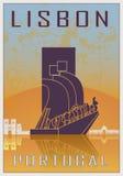 Lisbon vintage poster Stock Photo