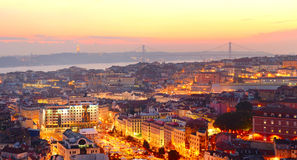 Lisbon wallpaper Royalty Free Stock Photos