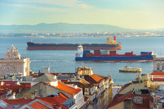 Lisbon water transportation. Portugal Royalty Free Stock Photos