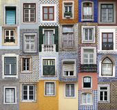 Lisbon windows royalty free stock photography