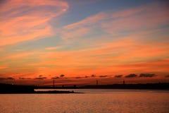 lisbon wschód słońca Obrazy Royalty Free