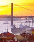 Lisbon wysyłka, Portugalia Fotografia Stock