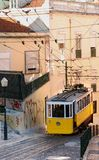 Lisbon yellow tram Royalty Free Stock Image
