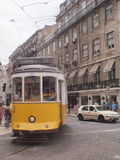 LISBON YELLOW TRAM PORTUGAL royalty free stock photos
