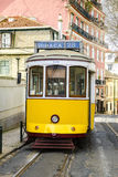 Lisbon yellow tram Stock Photos