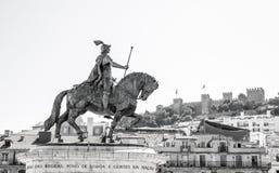 Lisbona视图城堡 库存图片