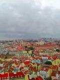 Lisbona da sopra - i tetti del viewwith della città Fotografie Stock Libere da Diritti