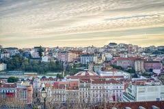 Lisbona del centro, Portogallo Immagini Stock