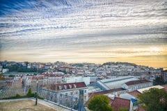 Lisbona del centro, Portogallo Fotografia Stock Libera da Diritti